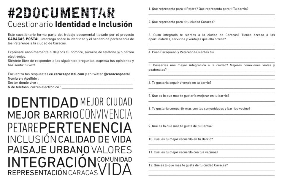 Cuestionario Identidad e Inclusion